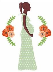 Pregnant Woman embroidery design