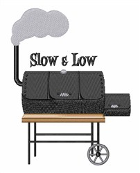 Slow & Low embroidery design