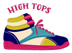 High Tops embroidery design