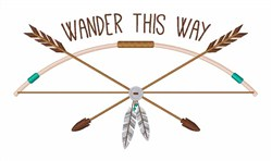 Wander This Way embroidery design