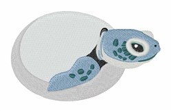 Hatched Sea Turtle embroidery design