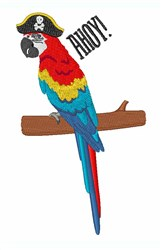 Ahoy Parrot embroidery design