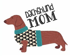 Dachshund Mom embroidery design