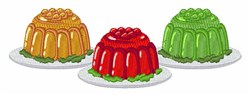 Jello Dessert embroidery design