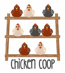 Chicken Coop embroidery design