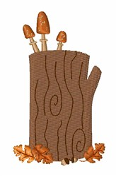 Fall Tree Stump embroidery design