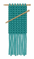 Knitting  Scarf embroidery design