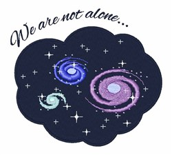 Not Alone embroidery design