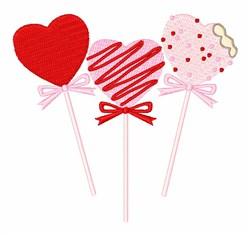 Valentine Cake Pops embroidery design