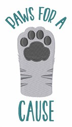 Paws For Cause embroidery design