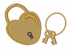 Heart Lock embroidery design