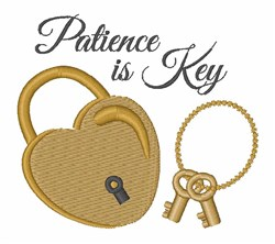 Patience Is Key embroidery design
