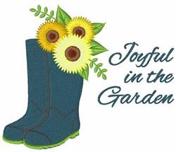 Joyful In Garden embroidery design