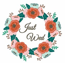 Just Wed embroidery design