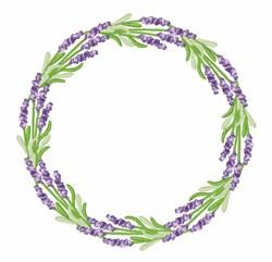 Lavender Wreath embroidery design