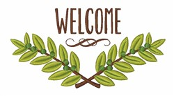 Olive Branch Welcome embroidery design