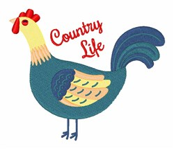Country Life Hen embroidery design