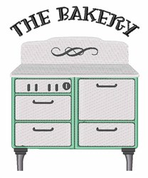 The Bakery embroidery design