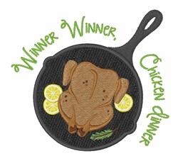 Chicken Dinner embroidery design