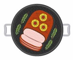 Ham Dinner embroidery design