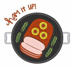 Ham It Up embroidery design