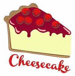Cheesecake embroidery design