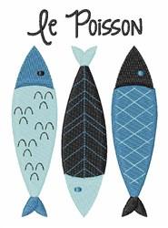 Le Poisson embroidery design