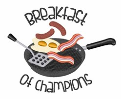 Champions Breakfast embroidery design