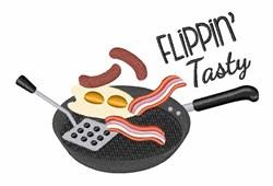 Flippin Tasty embroidery design