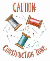 Construction Zone embroidery design