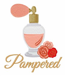 Pampered embroidery design