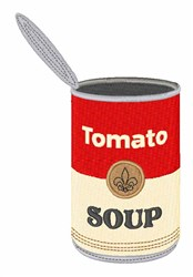 Tomato Soup Can embroidery design
