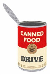 Canned Food Drive embroidery design