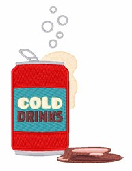 Cold Drink embroidery design