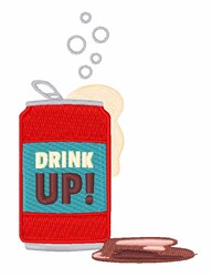 Drink Up embroidery design