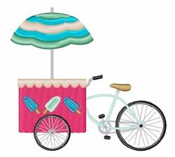 Ice Cream Stand embroidery design
