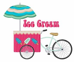 Ice Cream embroidery design