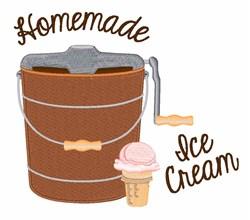 Homemade Ice Cream embroidery design