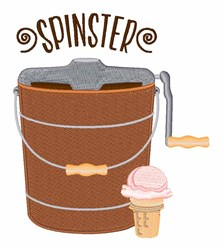 Ice Cream Spinster embroidery design