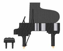 Grand Piano embroidery design