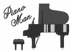 Piano Man embroidery design