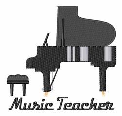 Music Teacher embroidery design