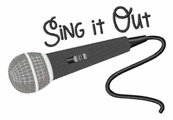 Sing It Out embroidery design
