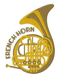 French Horn embroidery design