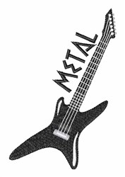 Metal Guitar embroidery design