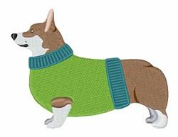 Corgi Dog embroidery design