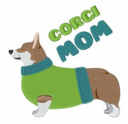 Corgi Mom embroidery design
