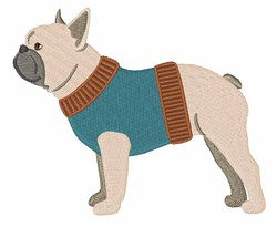 Frenchie embroidery design