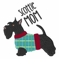Scottie Mom embroidery design
