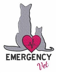 Emergency Vet embroidery design